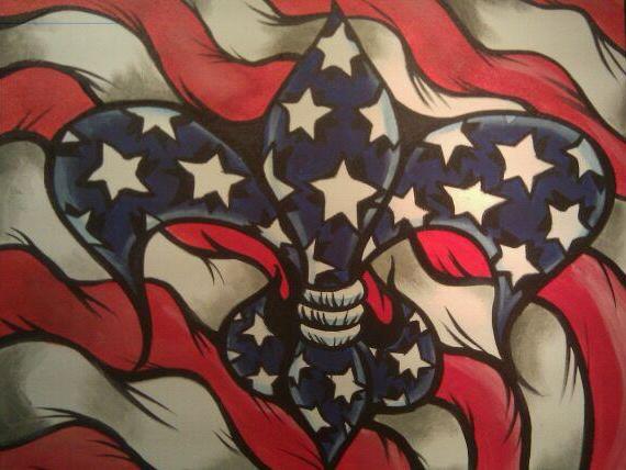 Patriotic FleurDeLis